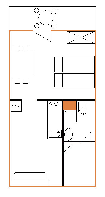 Půdorys apartmánu č.1